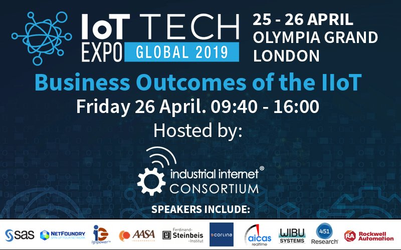 - IoT IICons Global 2019 - Business Outcomes of the IIoT: IoT Tech Expo and Industrial Internet Consortium partner for conference in London